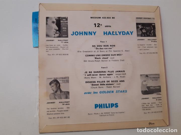 Discos de vinilo: JOHNNY HALLYDAY- DA DOU RON RON- FRENCH EP 1963 + LENGÜETA. - Foto 2 - 175597203