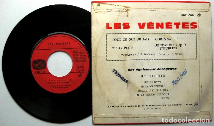 Discos de vinilo: Les Vénètes (C.M.Schönberg) - Tout Ce Que Je Sais - EP La Voix De Son Maître 1965 France BPY - Foto 2 - 175604394