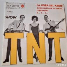 Discos de vinilo: LOS T.N.T.- LA HORA DEL AMOR - EP 1963- COMO NUEVO.. Lote 175605988