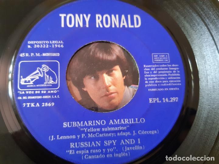Discos de vinilo: TONY RONALD- SUBMARINO AMARILLO - EP 1966- THE BEATLES. - Foto 3 - 175608970