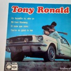 Discos de vinil: TONY RONALD- UN BOCADITO TU, OTRO YO - EP 1967- VINILO COMO NUEVO.. Lote 175609235