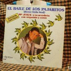 Discos de vinilo: Mª JESUS Y SU ACORDEON, EL BAILE DE LOS PAJARITOS / BENIDORM BENIDORM, OLYMPO 1981.. Lote 175634460