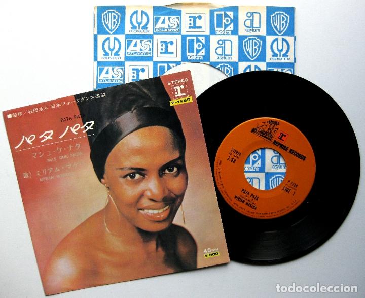 MIRIAM MAKEBA - PATA PATA / MAS QUE NADA - SINGLE REPRISE RECORDS 1976 JAPAN (EDICIÓN JAPONESA) BPY (Música - Discos - Singles Vinilo - Étnicas y Músicas del Mundo)