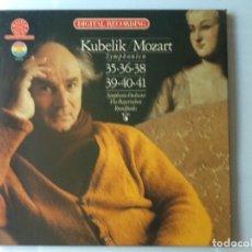 Discos de vinilo: L.P. KUBELIK- MOZART, SYMPHONIEN. 35,36,38.- 39,40,41. CON 3 DISCOS, NUEVOS. . Lote 175638593