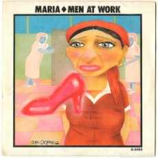 Discos de vinilo: MEN AT WORK - MARIA / SNAKES AND LADDERS - CBS 1985. Lote 175653545