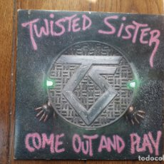 Discos de vinilo: TWISTER SISTER - COME OUT AND PLAY. Lote 175672388