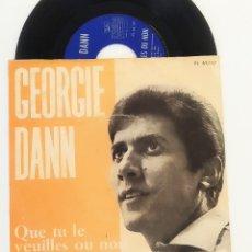 Disques de vinyle: SINGLE GEORGIE DANN – QUE TU LE VEUILLES OU NOM,IV FESTIVAL CANCIÓN MALLORCA 1967, PL 63.15(VG+_VG+). Lote 175680384