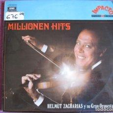 Disques de vinyle: LP - HELMUT ZACHARIAS SY SU GRAN ORQUESTA - MILLIONEN HITS (SPAIN, EMI ODEON 1970). Lote 175691593