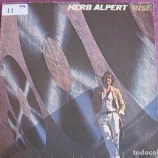 Disques de vinyle: LP - HERB ALPERT - RISE (SPAIN, AM RECORDS 1979). Lote 175692542