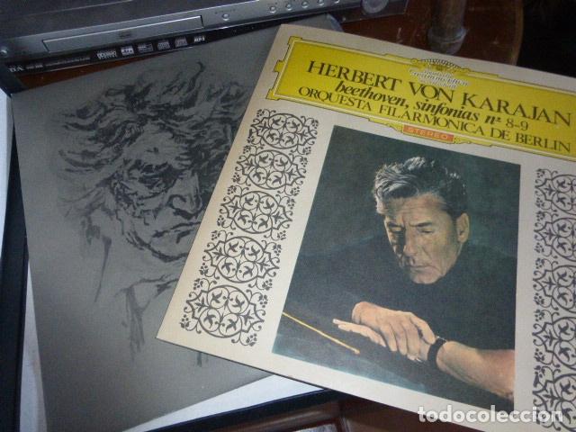 Discos de vinilo: DOBLE DISCO. HERBERT VON KARAJAN SINFONIAS Nº8-9 DE BEETHOVEN. - Foto 2 - 175700844
