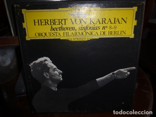 DOBLE DISCO. HERBERT VON KARAJAN SINFONIAS Nº8-9 DE BEETHOVEN. (Música - Discos - LP Vinilo - Clásica, Ópera, Zarzuela y Marchas)