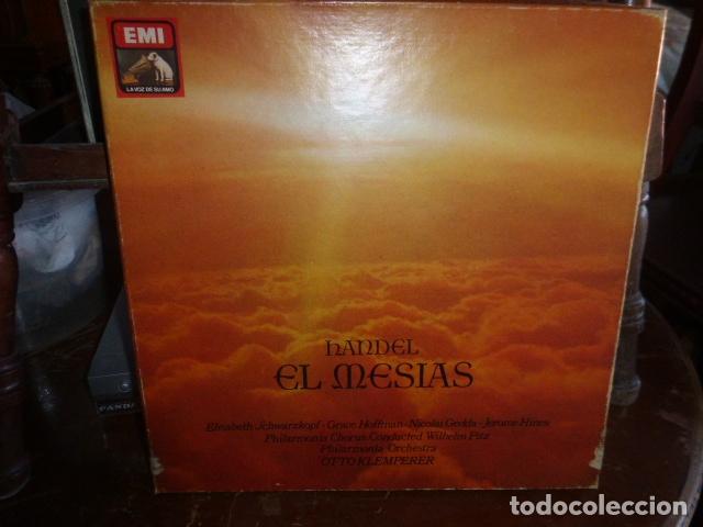 TRIPLE LP - HANDEL - EL MESIAS - EN PERFECTO ESTADO (Música - Discos - LP Vinilo - Clásica, Ópera, Zarzuela y Marchas)