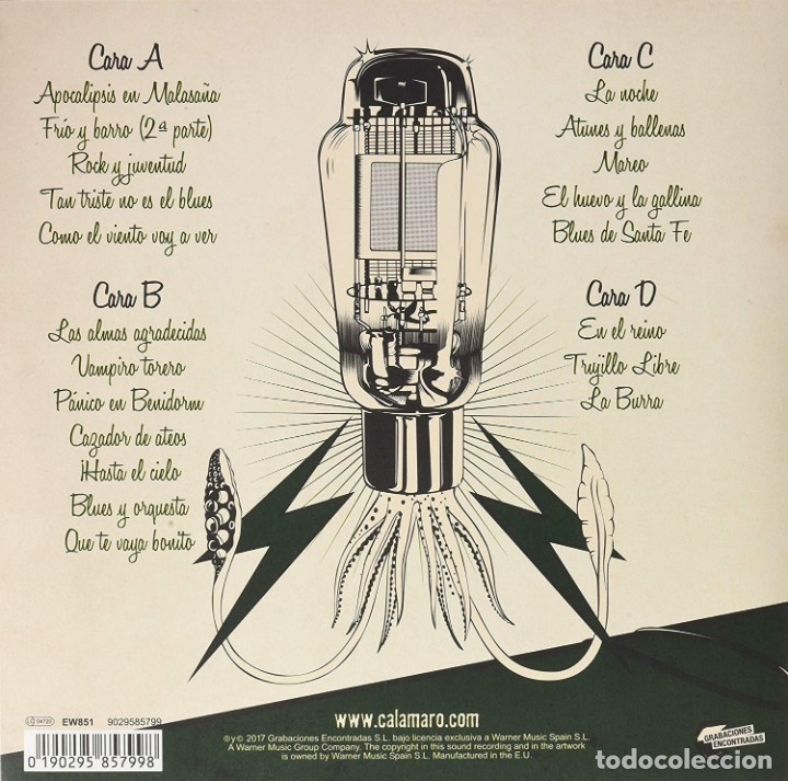 Discos de vinilo: CALAMARO ANDRES CALAMARO VOLUMEN 11 2 LPs + CD NUEVO - Foto 2 - 175731430
