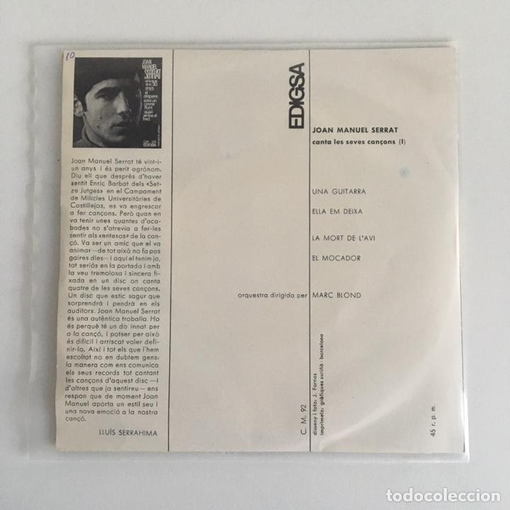 Discos de vinilo: EP vinilo - Joan Manuel Serrat (1965) - Foto 2 - 175736690