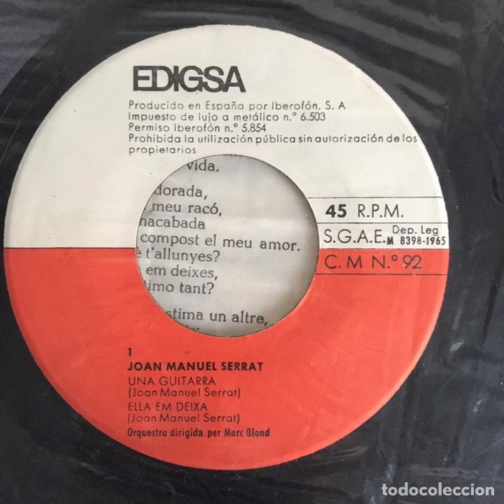 Discos de vinilo: EP vinilo - Joan Manuel Serrat (1965) - Foto 4 - 175736690