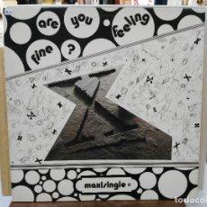 Discos de vinilo: X - ARE YOU FEELING FINE? - MAXI SINGLE DEL SELLO CITY MUSIC 1989. Lote 175741884