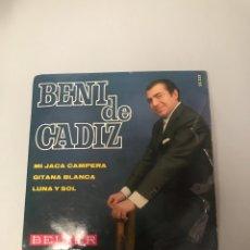 Discos de vinilo: BENI DE CÁDIZ. Lote 175748337