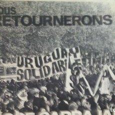 Discos de vinilo: URUGUAY SOLIDARIO -LP. Lote 175748402