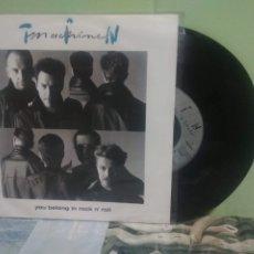 Discos de vinilo: TIM MACHINE - DAVID BOWIE YOU BELONG IN ROCK N' ROLL SINGLE GERMANY 1991 PDELUXE. Lote 175755619