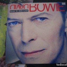 Discos de vinilo: LP DISCO VINILO DAVID BOWIE BLACK TIE WHITE NOISE, BUEN ESTADO. Lote 175753418