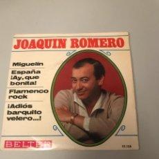 Discos de vinilo: JOAQUÍN ROMERO. Lote 175759969