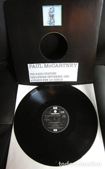 BEATLES PAUL MCCARTNEY MAXI SINGLE ADVANCE 1980 NUEVO ENGLAND TEMPORARY SECRETARY (Música - Discos de Vinilo - Maxi Singles - Pop - Rock - New Wave Extranjero de los 80)