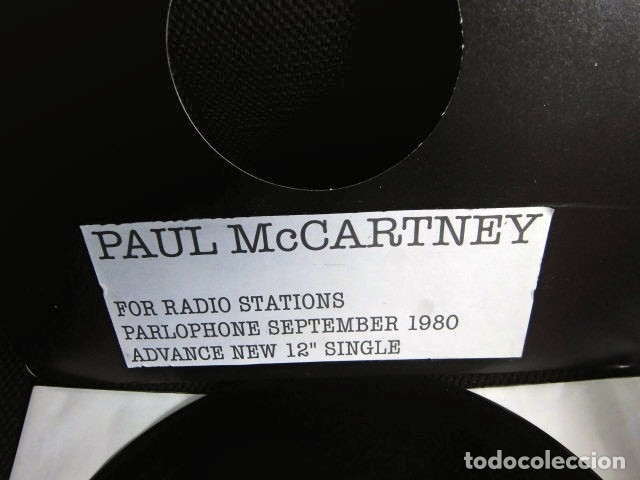 Discos de vinilo: BEATLES PAUL McCARTNEY MAXI SINGLE ADVANCE 1980 NUEVO ENGLAND TEMPORARY SECRETARY - Foto 3 - 175766893