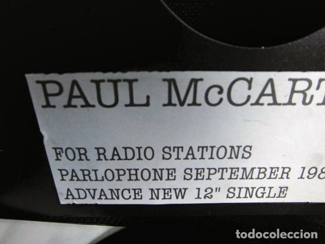 Discos de vinilo: BEATLES PAUL McCARTNEY MAXI SINGLE ADVANCE 1980 NUEVO ENGLAND TEMPORARY SECRETARY - Foto 6 - 175766893