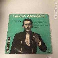 Dischi in vinile: MANOLO ESCUDERO. Lote 175769967