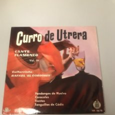 Discos de vinilo: CURRO DE UTRERA. Lote 175774080