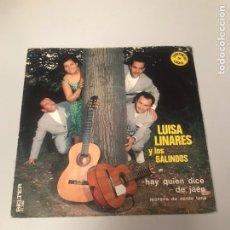 Discos de vinilo: LUISA LINARES Y LOS GALINDOS. Lote 175774229