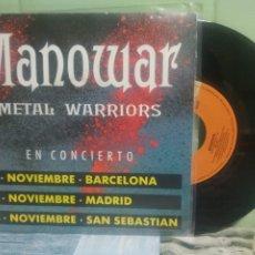 Disques de vinyle: MANOWAR METAL WARRIORS SINGLE SPAIN 1992 PDELUXE. Lote 175777813