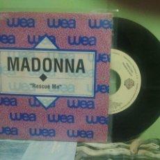 Discos de vinilo: MADONNA RESCUE ME SINGLE SPAIN 1991 PDELUXE. Lote 175778442