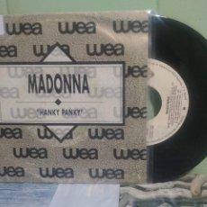 Discos de vinilo: MADONNA HANKY PANKY SINGKE SPAIN 1990 PDELUXE. Lote 175779082