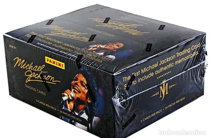 MICHAEL JACKSON -PANINI 190 TRADING CARDS BOX SET NEW SEALED (Música - Discos - Singles Vinilo - Pop - Rock Extranjero de los 90 a la actualidad)