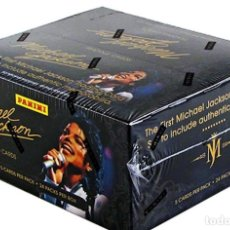 Discos de vinilo: MICHAEL JACKSON -PANINI 190 TRADING CARDS BOX SET NEW SEALED. Lote 175801698