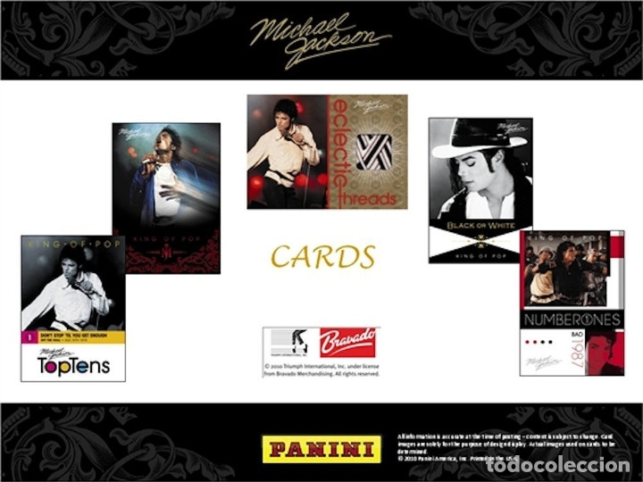 Discos de vinilo: MICHAEL JACKSON -PANINI 190 TRADING CARDS BOX SET NEW SEALED - Foto 2 - 175801698