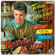 Discos de vinilo: FRANKIE AVALON - TEMAS DE LA PELICULA EL ALAMO - CHANCELLOR / HISPAVOX 1961. Lote 175812767