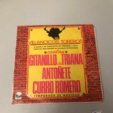 Discos de vinilo: VILLANCICOS TOREROS. Lote 175813210