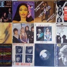 Discos de vinilo: 19 SINGLES VARIADOS: BEATLES,PINK FLOYD, ROLLING STONES, ELTON JOHN, LINDA RONSTADT..... Lote 151597450