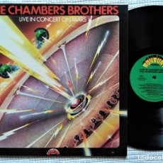 Discos de vinilo: THE CHAMBERS BROTHERS - '' LIVE IN CONCERT ON MARS '' LP 1976 USA. Lote 175838609