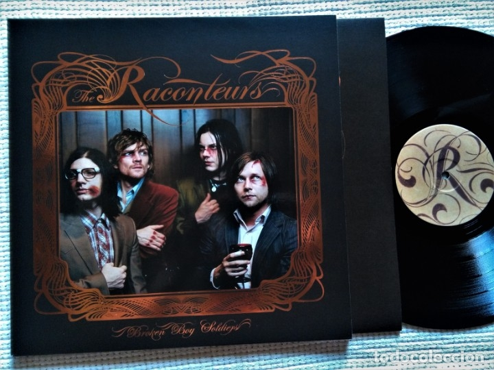 THE RACONTEURS - '' BROKEN BOY SOLDIERS '' LP + INNER + POSTER 2006 UK (Música - Discos - LP Vinilo - Pop - Rock Extranjero de los 90 a la actualidad)