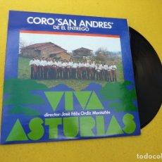 Discos de vinilo: LP CORO SAN ANDRES DE EL ENTREGO-VIVA ASTURIAS SFA VINILO Ç. Lote 175840049