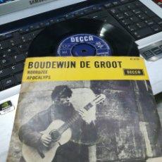 Discos de vinilo: BOUDEWIJN DE GROOT SINGLE NOORDZEE / APOCALYPS HOLANDA 1965. Lote 175857832