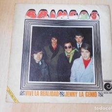 Discos de vinil: BRINCOS, LOS, SG, VIVE LA REALIDAD + 1, AÑO 1970. Lote 175863229