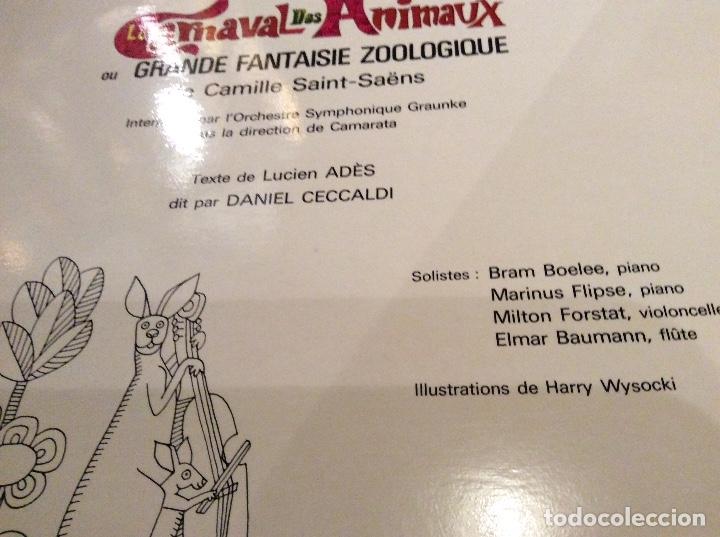 Discos de vinilo: Le Carnaval des Animaux - Foto 2 - 175870754