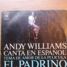 Discos de vinilo: ANDY WILLIAMS EL PADRINO. Lote 175882865