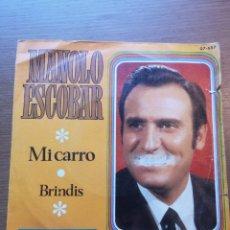 Discos de vinilo: MANOLO ESCOBAR – MI CARRO. Lote 175883813