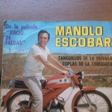 Discos de vinilo: MANOLO ESCOBAR COPLAS DE CHIRIGOTA. Lote 175885907