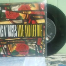 Discos de vinilo: GUNS N' ROSES LIVE AND LET DIE SINGLE SPAIN 1991 PDELUXE. Lote 175899434
